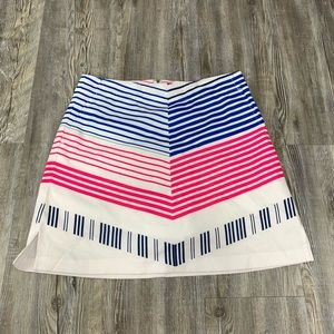 Lady Hagen Striped Skort Pink Blue Size 2